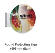 Round Projecting Signs