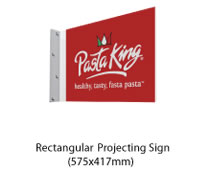 Rectangular Projecting Sign